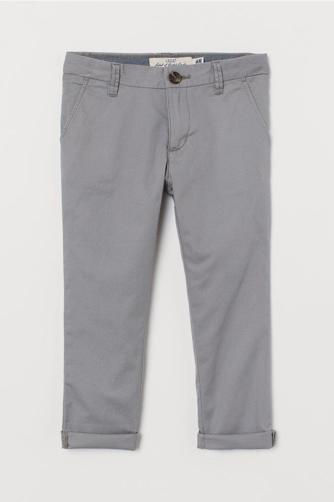 Cotton Chinos - Gray - Kids | H&M US 2