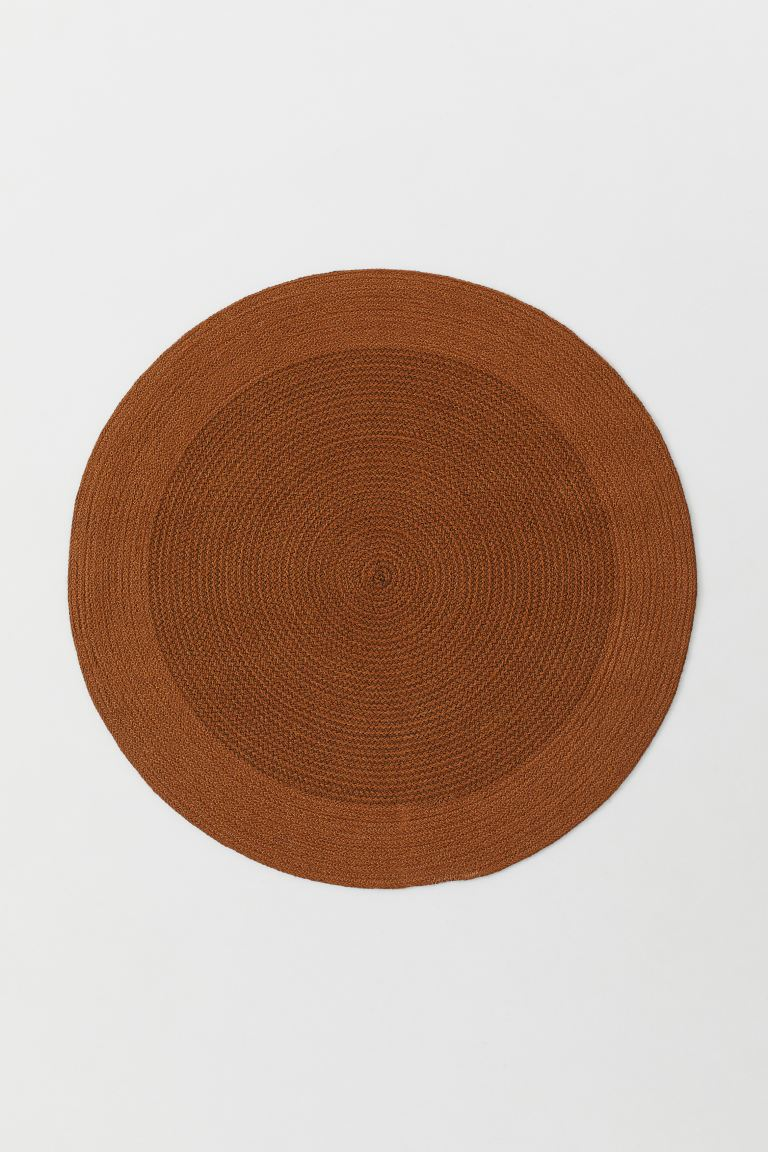 Round jute rug - Light brown - Home All | H&M GB
