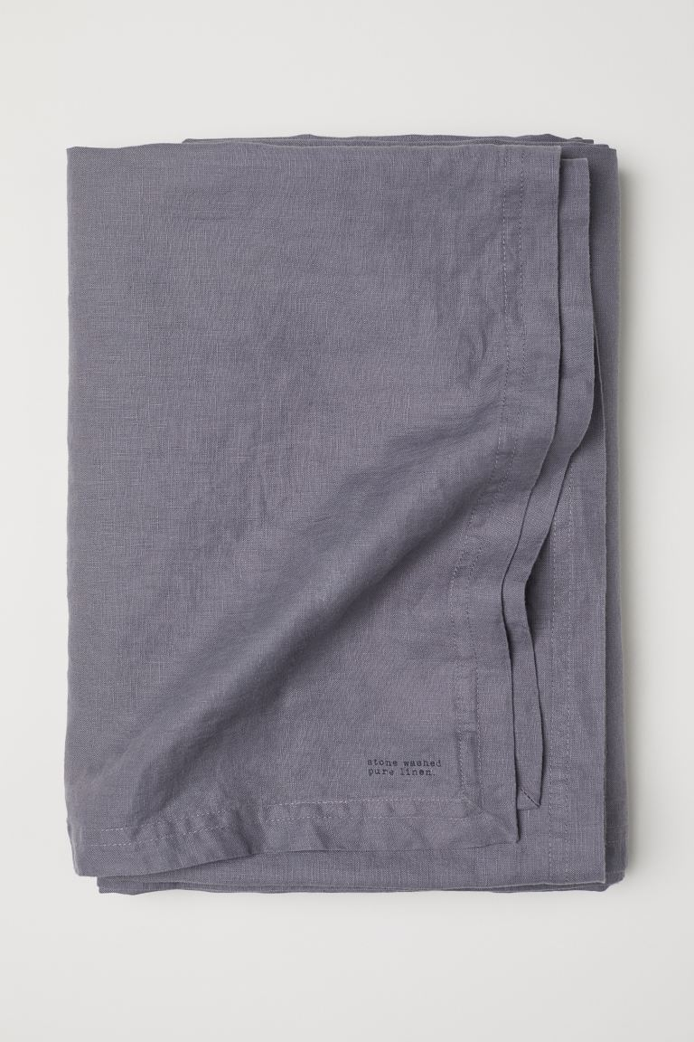 Washed Linen Tablecloth - Gray - Home All | H&M CA