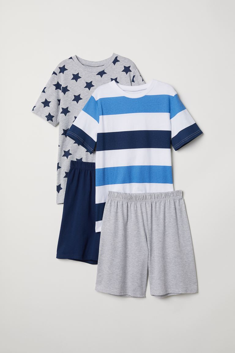 2-pack jersey pyjamas - Grey marl - Kids | H&M