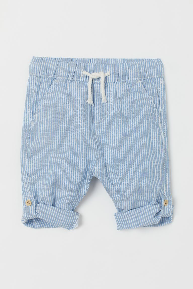 Schlupfhose Loose Fit - Hellblau/Gestreift - Kids | H&M DE