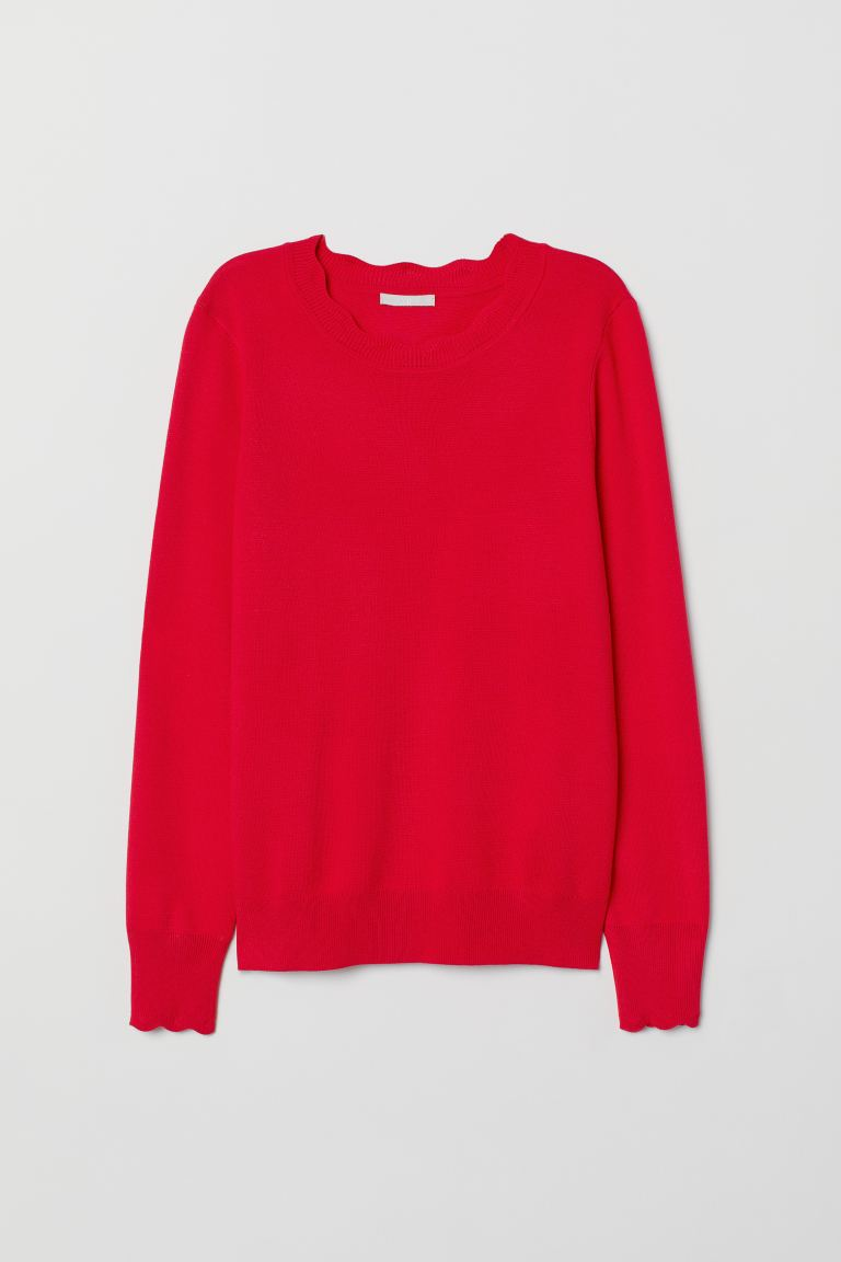 Fine-knit Sweater - Red - Ladies | H&M CA