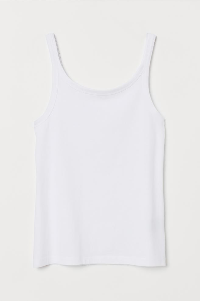 Wonderlijk Cotton Tank Top - White - | H&M US BU-35