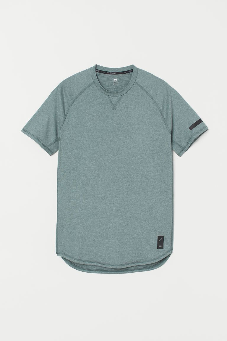 Sports top Loose Fit - Light green marl - Men | H&M