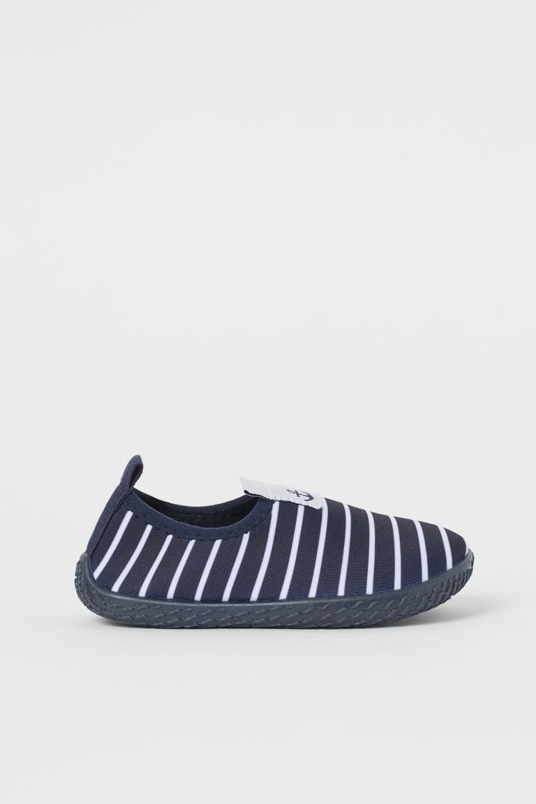 Patterned Water Shoes - Dark blue/white striped - Kids | H&M US