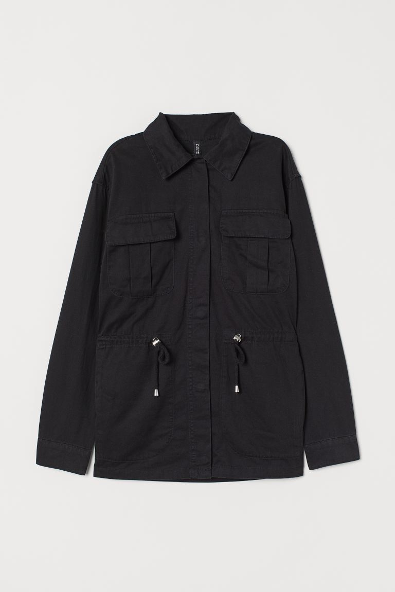 Short Cotton Parka - Black - Ladies | H&M CA
