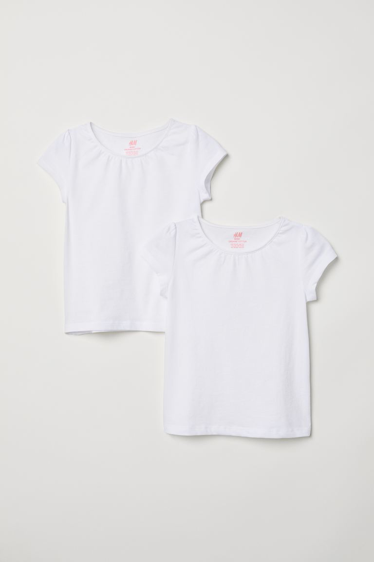 Top in jersey, 2 pz - Bianco - BAMBINO | H&M IT