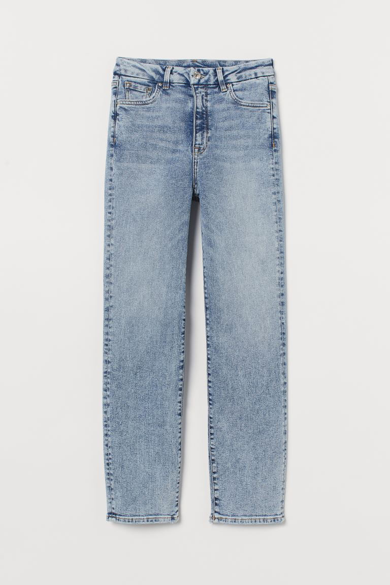 Embrace Slim High Ankle Jeans - Bleu denim clair/washed -  | H&M BE