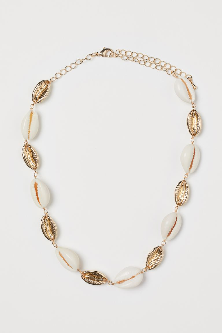 Necklace with Shells - Gold-colored/white - Ladies | H&M US