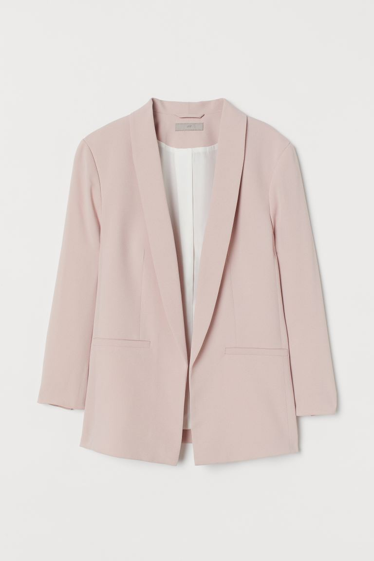 Straight-cut jacket - Powder pink - Ladies | H&M IE