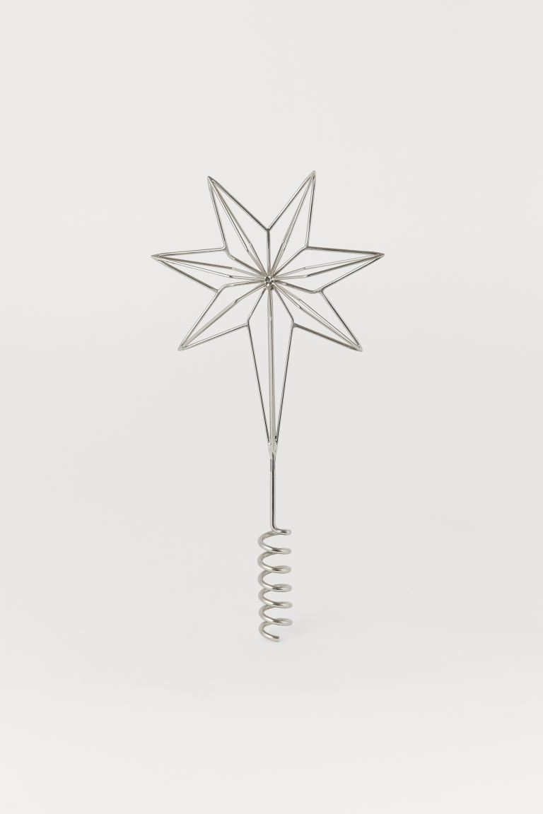 Christmas Tree Star - Silver-colored - Home All | H&M US
