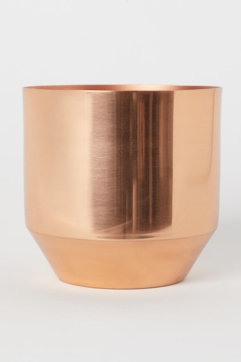 Metal plant pot - Copper - Home All | H&M GB