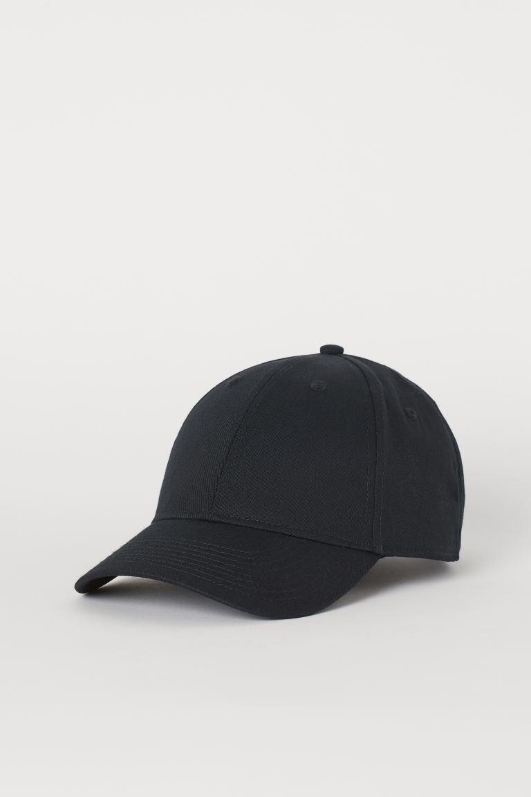 Cotton twill cap - Black - Men   H&M GB