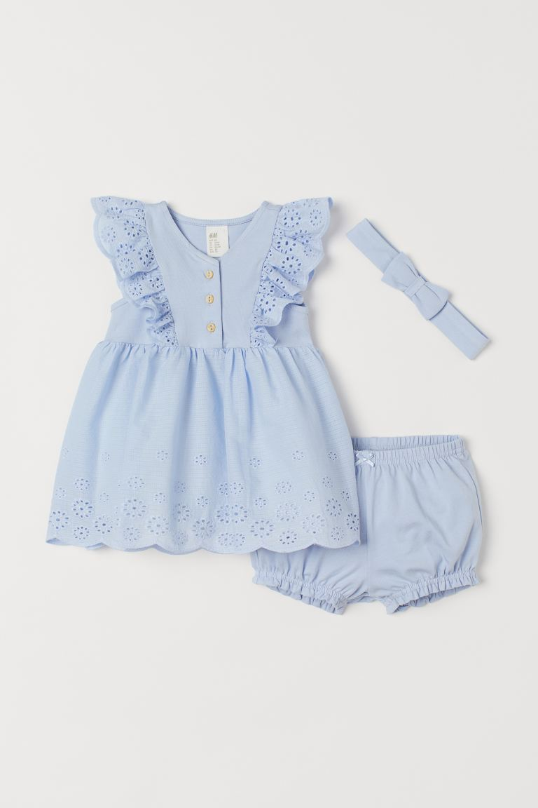 3-piece Jersey Set - Light blue - Kids | H&M CA