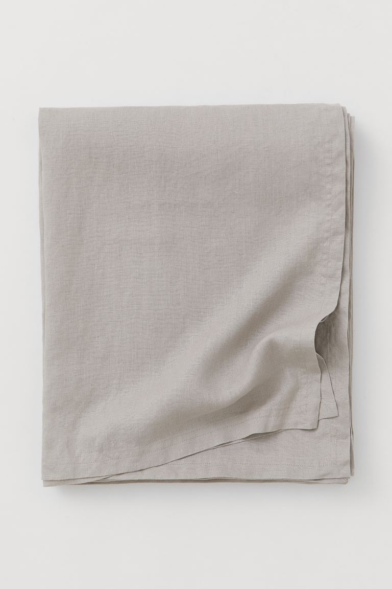 Washed Linen Tablecloth - Light taupe - Home All | H&M CA