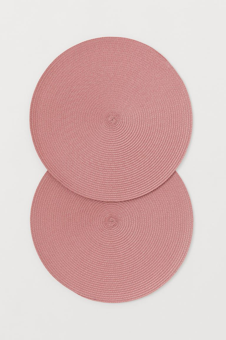 2-pack round table mats - Pink - Home All | H&M GB