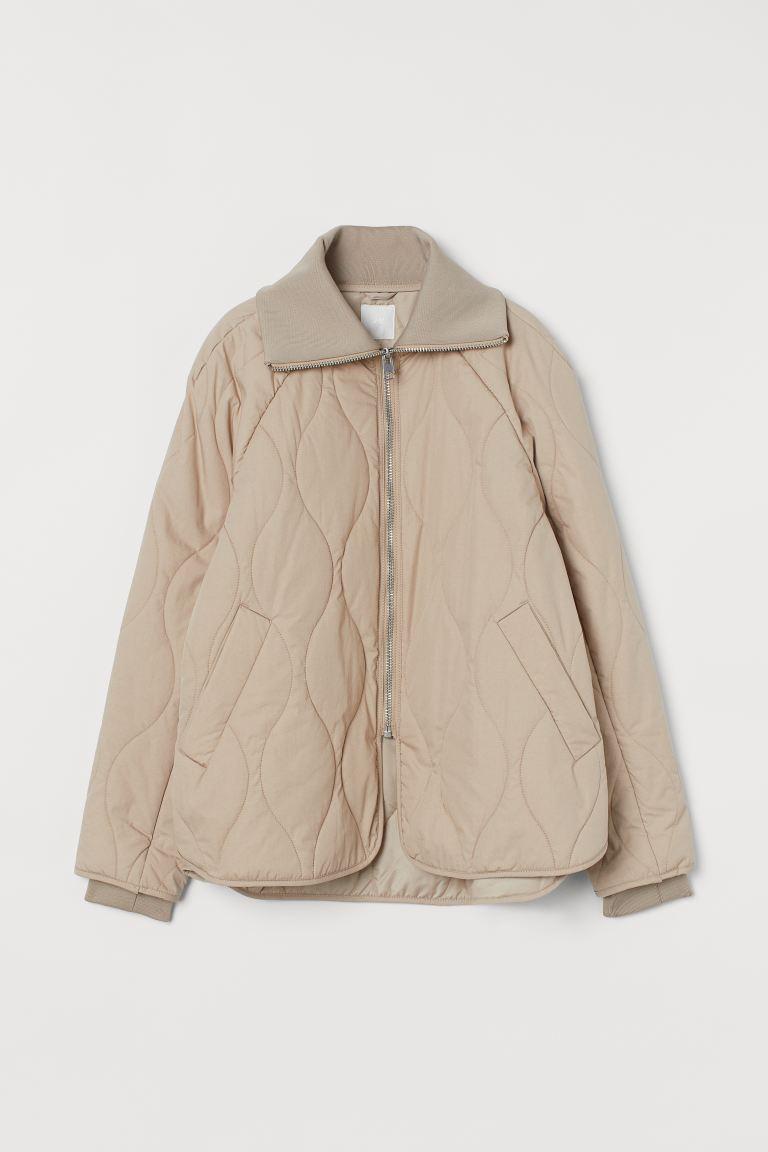 Quilted Jacket - Beige - Ladies | H&M US 4