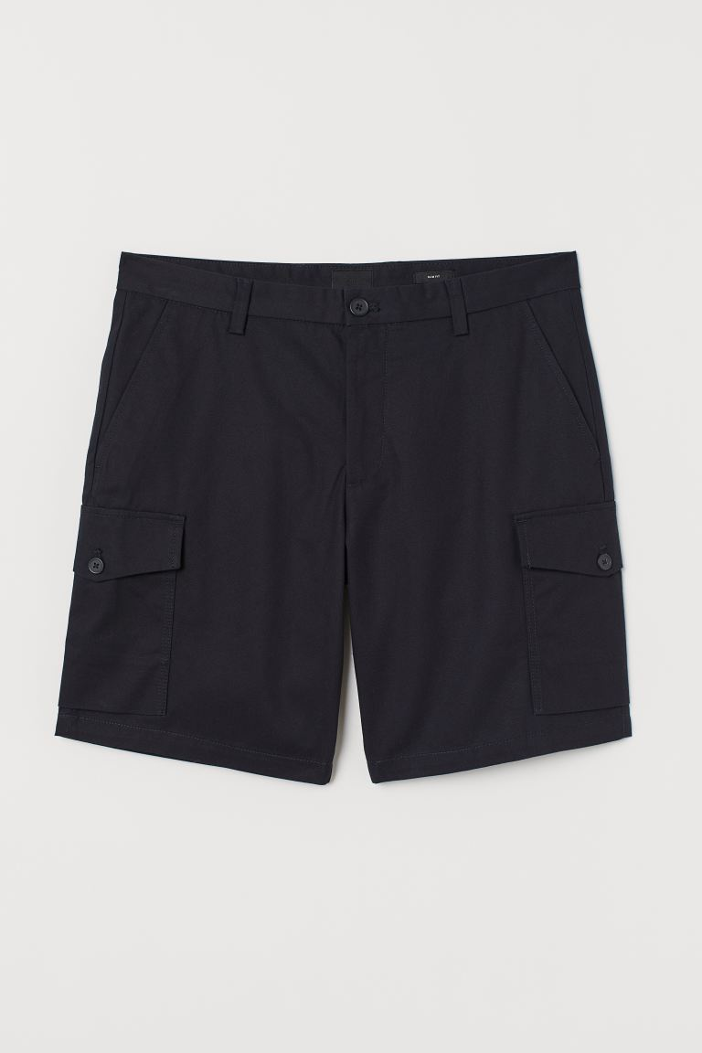 Shorts cargo Slim - Azul oscuro - Men | H&M MX