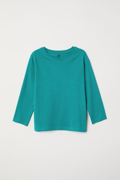 Jersey top - Green - Kids | H&M IN