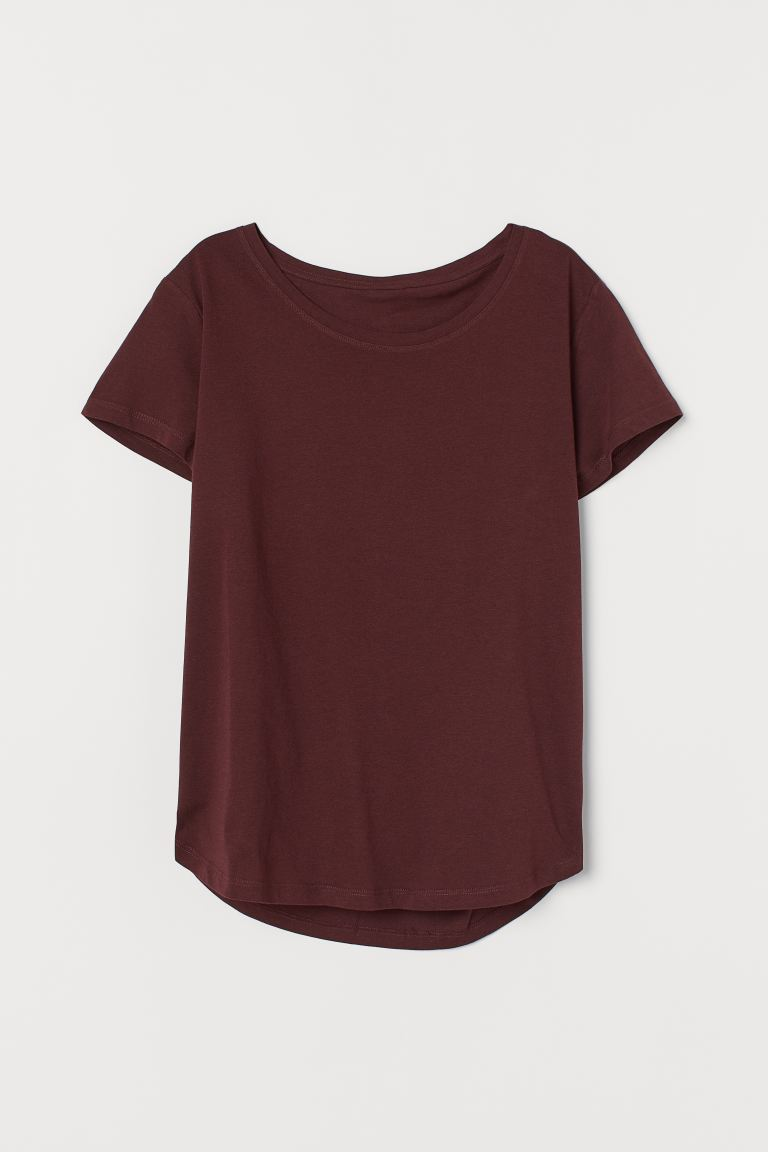 Jersey top - Burgundy - Ladies | H&M IN