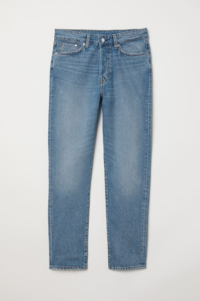 Mom Jeans - Light blue denim - Ladies | H&M CA
