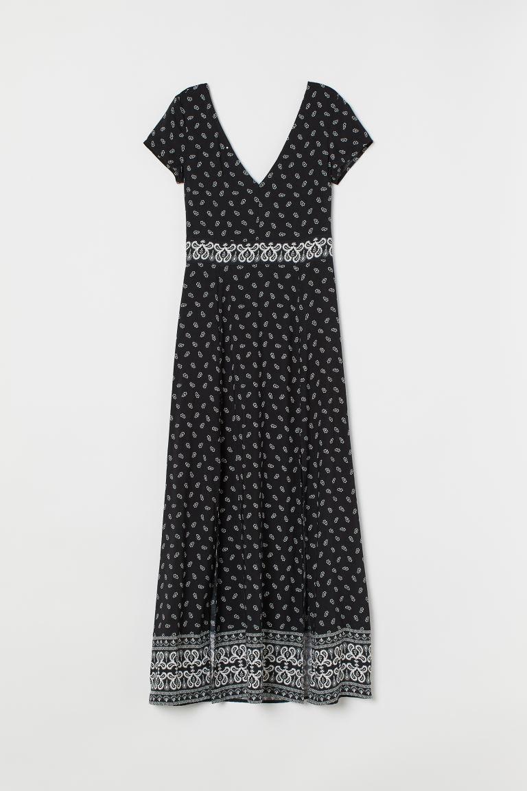 Wonderbaar Paisley-patterned maxi dress - Black/Paisley-patterned - Ladies BE-95
