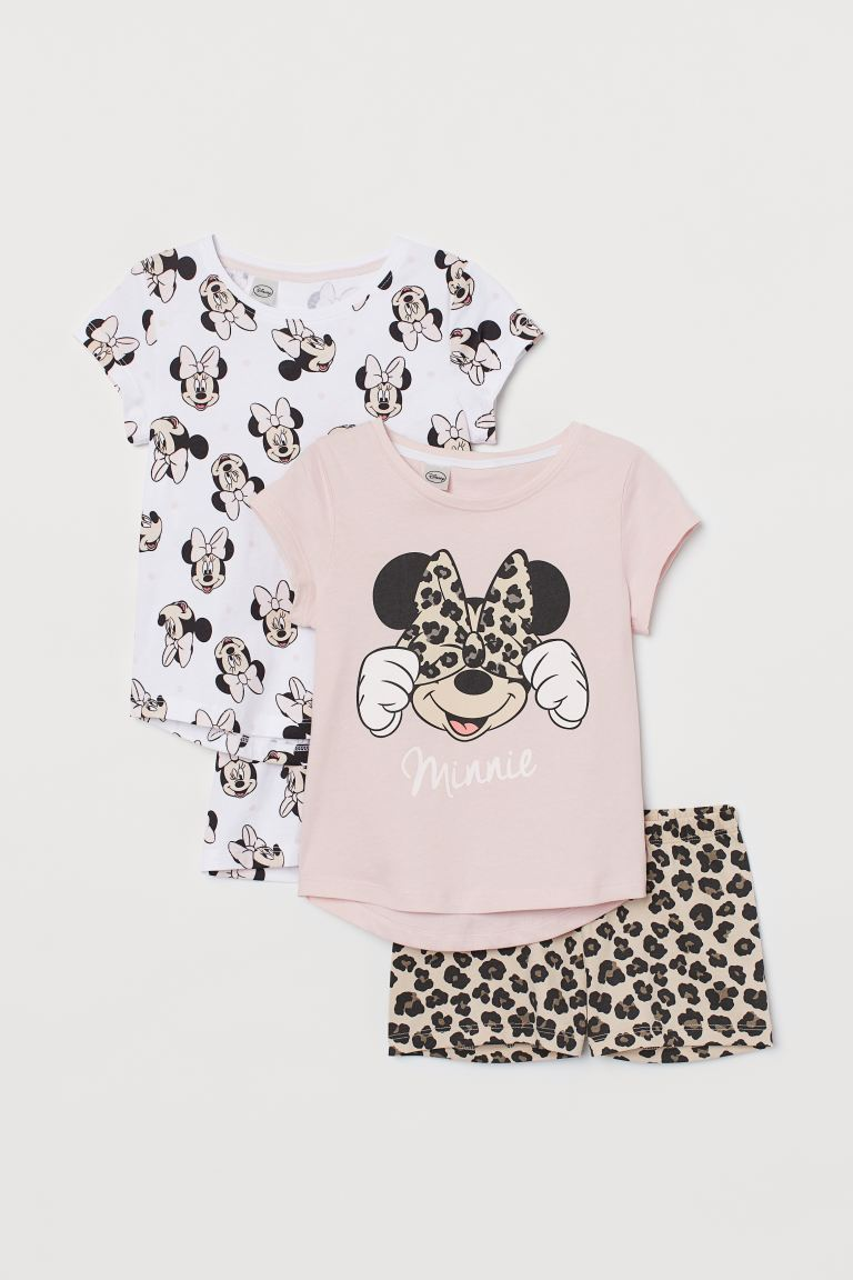 2-pack pyjamas - Powder pink/Minnie Mouse - Kids | H&M GB