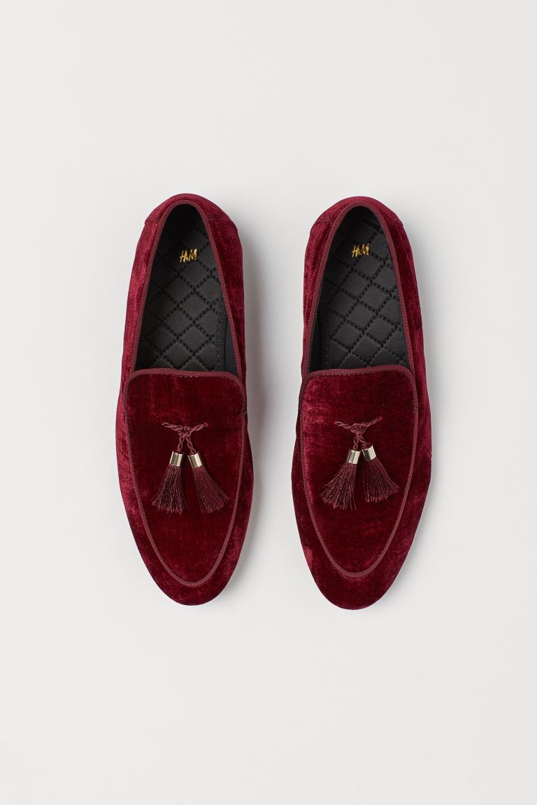 Tasselled loafers - Burgundy - Men | H&M