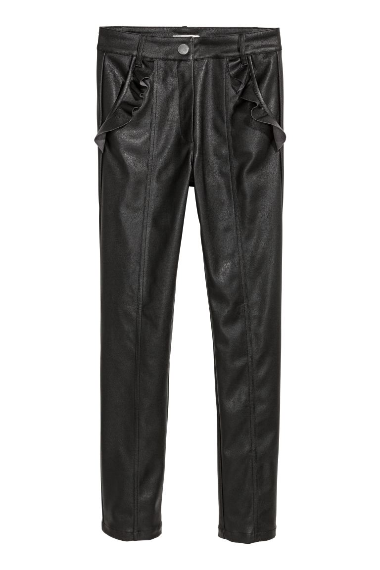 Frilled trousers - Black - Ladies | H&M GB