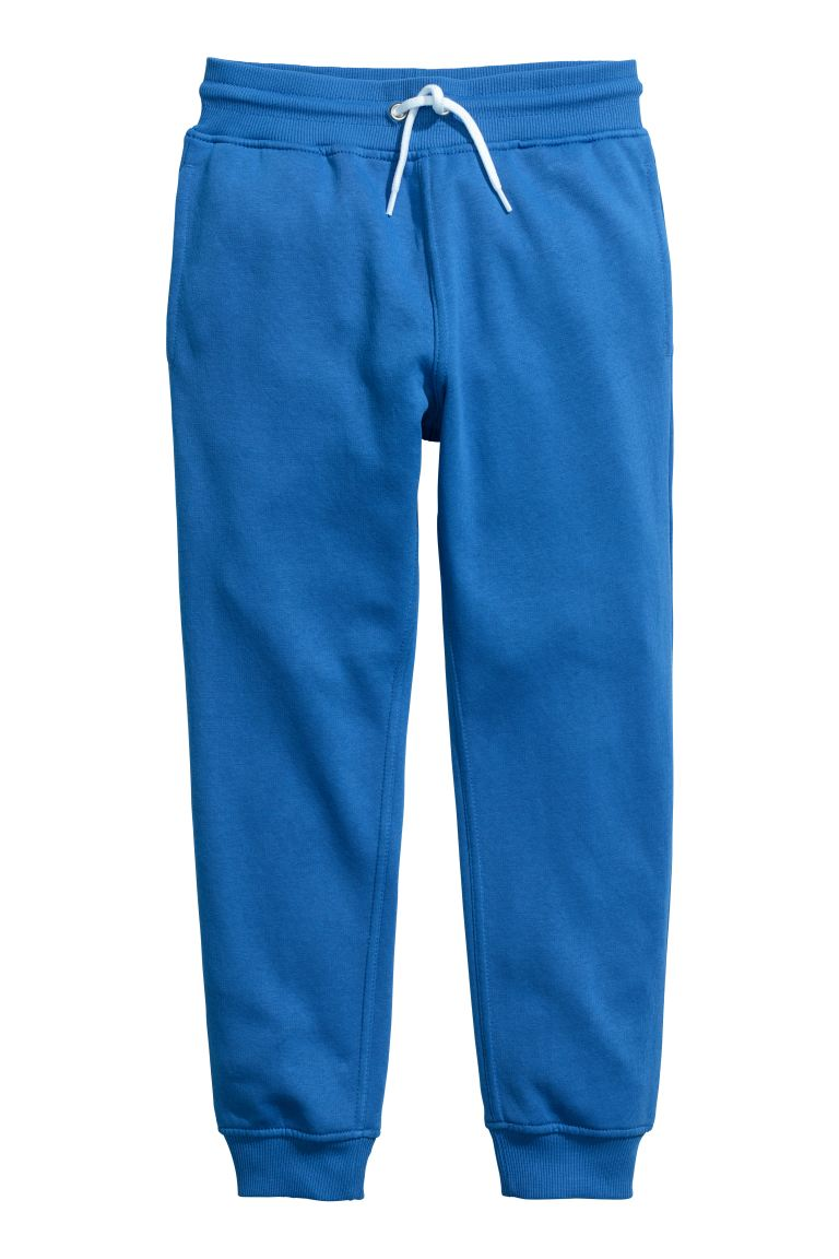 Cotton-blend Joggers - Bright blue - Kids | H&M CA