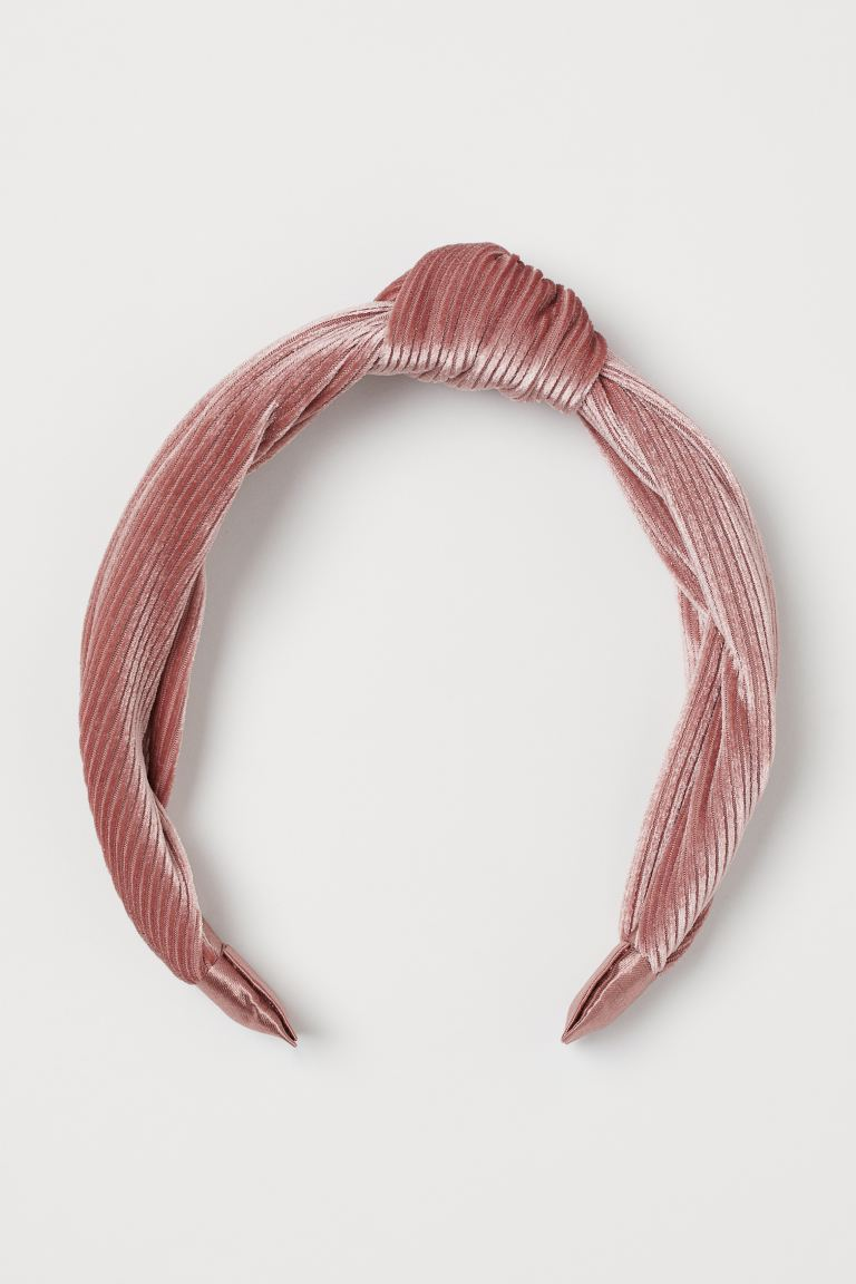 Corduroy Velour Hairband - Dusty rose - Ladies | H&M US