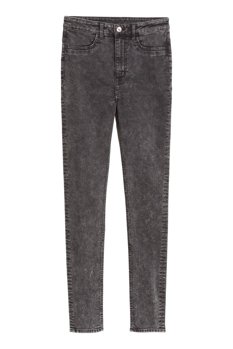 Super Skinny High Jeans - Gris denim oscuro - MUJER | H&M ES