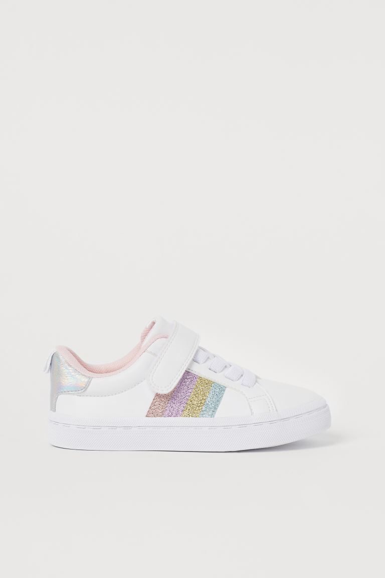 Trainers - White/Glittery - Kids | H&M