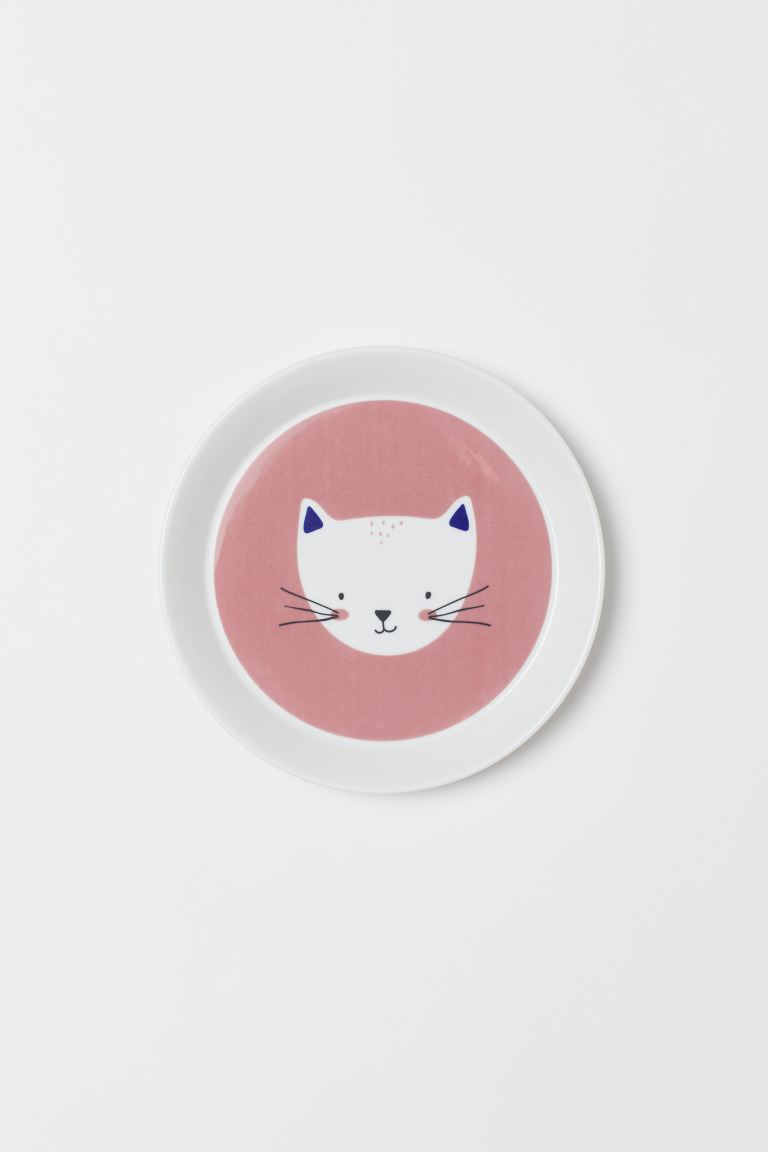 Plato con estampado animal - Rosa/Gato - Home All | H&M MX
