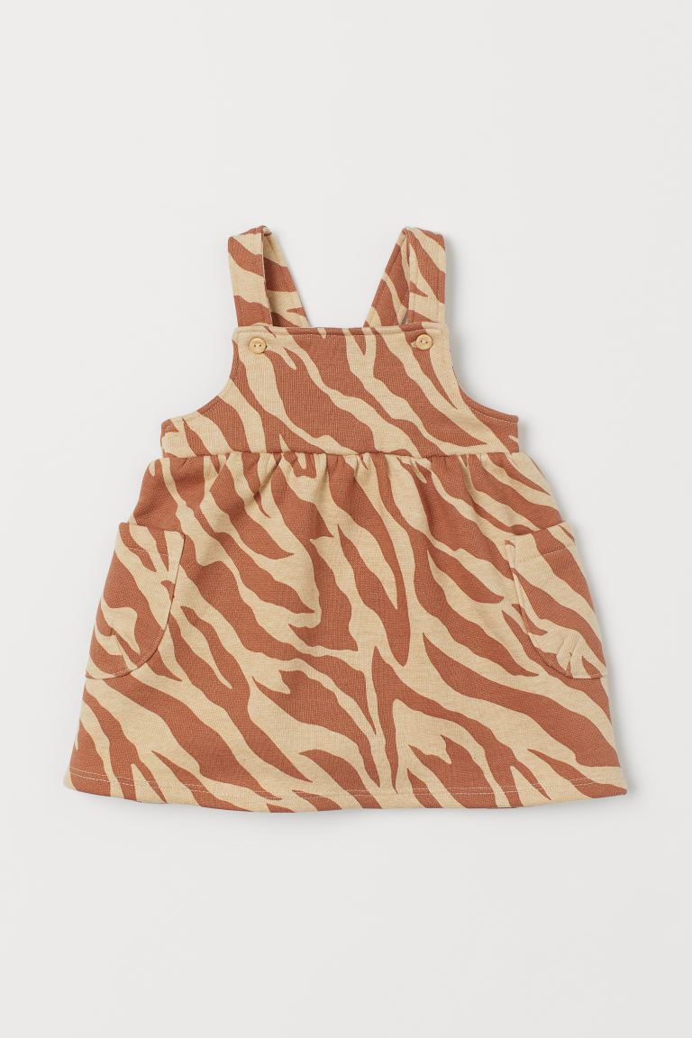 Overall Dress - Dark beige/zebra print - Kids | H&M CA