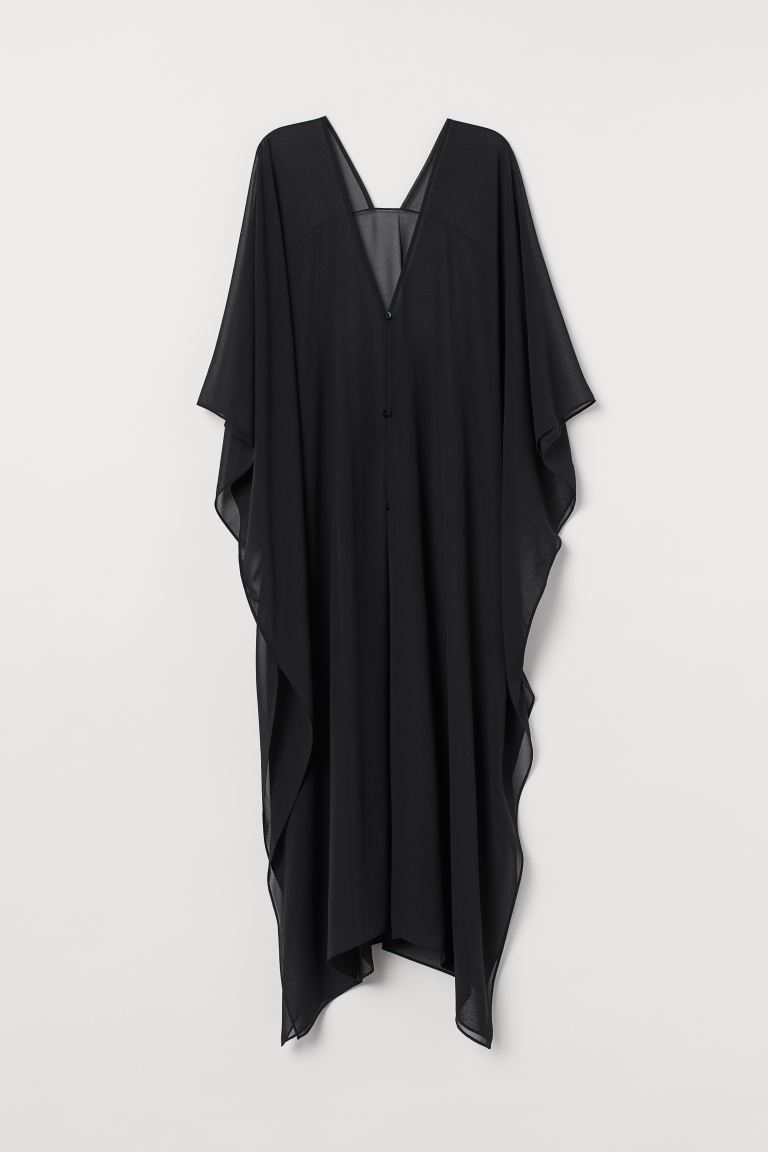 Long beach kaftan - Black - Ladies | H&M