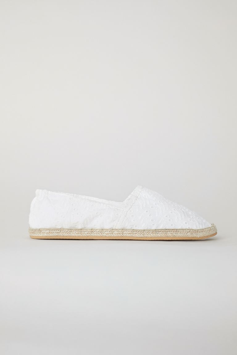 Espadrilles - Blanc/Broderie anglaise - FEMME | H&M FR