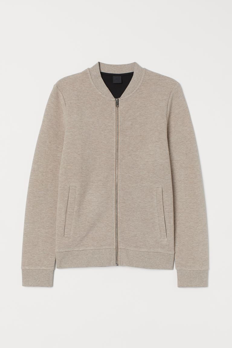 Zipped cardigan - Beige marl - Men | H&M GB
