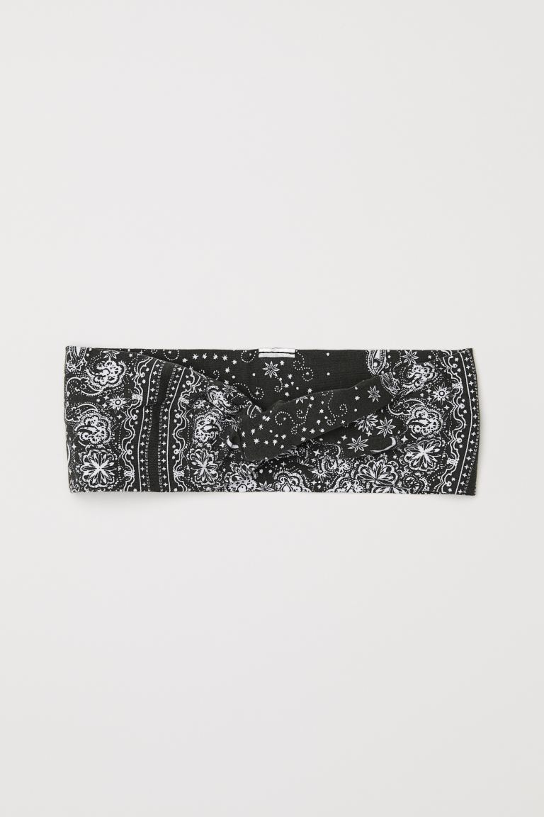 Patterned Hairband - Khaki green - Ladies | H&M US
