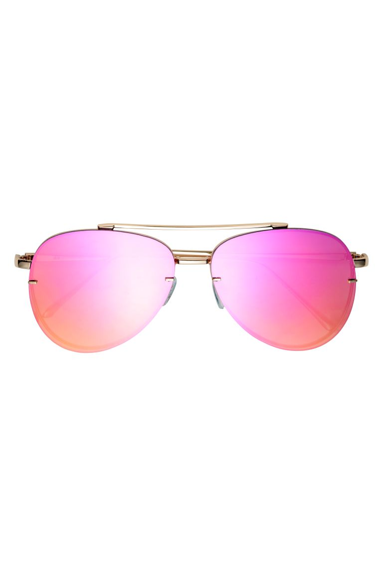 Sonnenbrille - Petrol/Rosa - Ladies | H&M AT