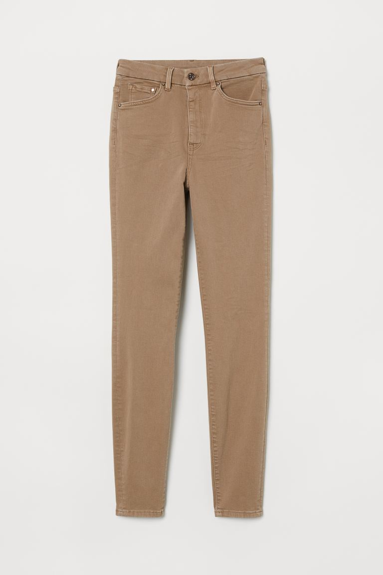 Embrace High Ankle Jeans - Beige - FEMME | H&M BE