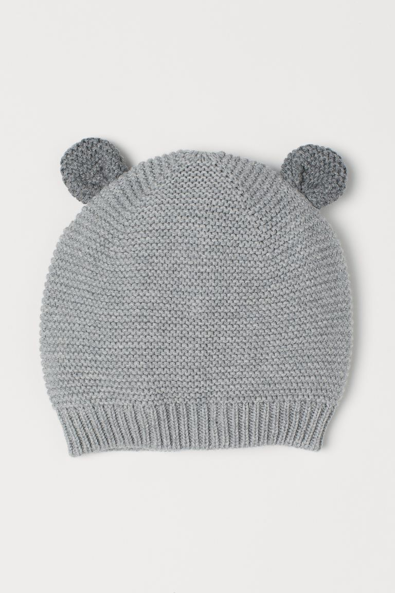 Bonnet au point mousse - Gris - ENFANT | H&M BE