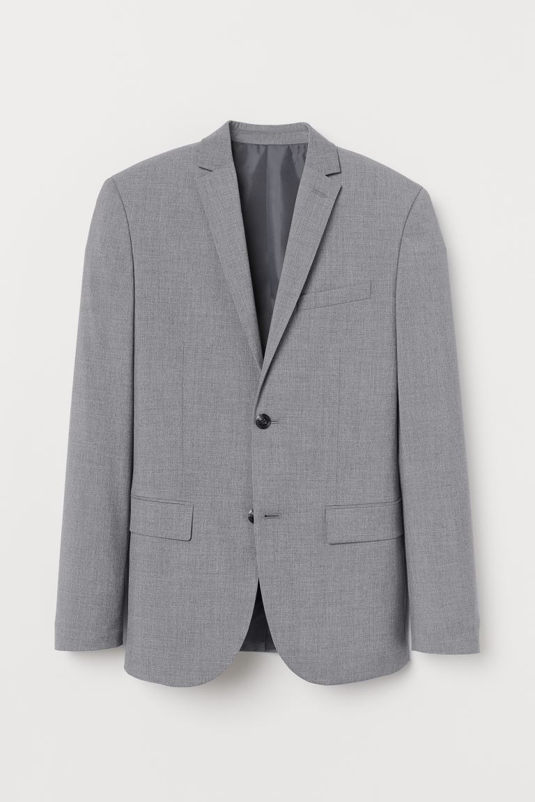 Jacket Slim Fit - Grey - Men | H&M GB