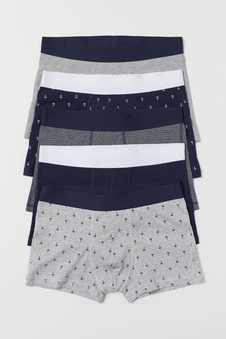 5-pack short trunks - Dark blue/Anchors - Men | H&M IN