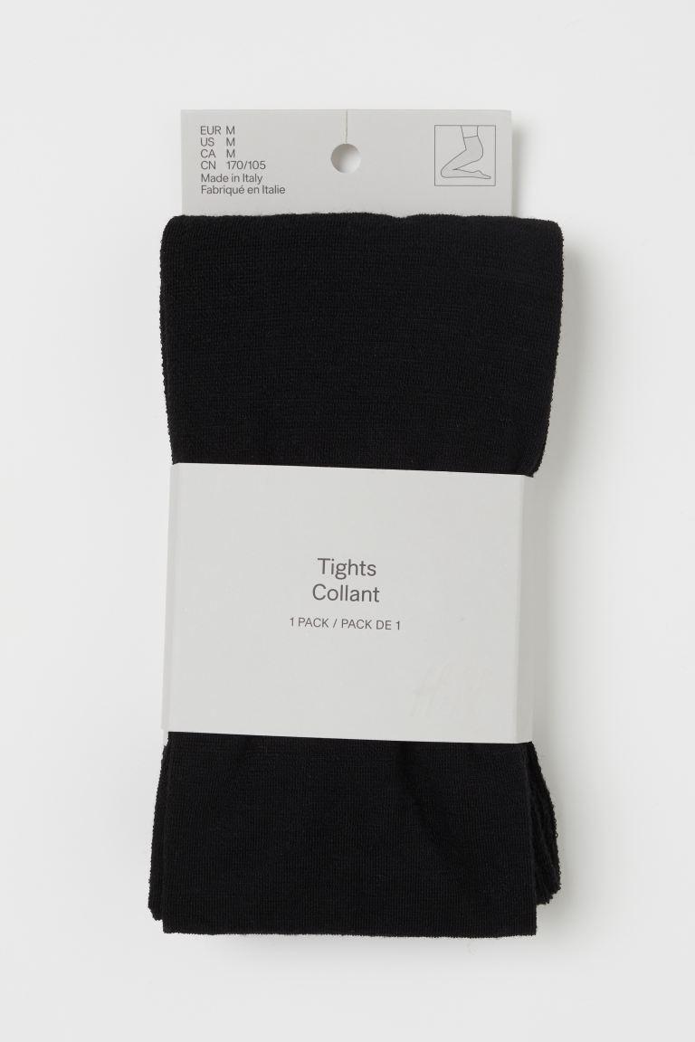 Wool-blend tights - Black - Ladies   H&M GB