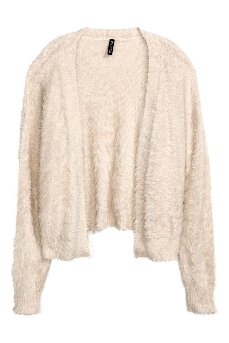 Knitted cardigan - Light beige - Ladies | H&M GB