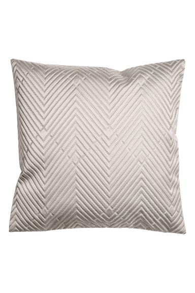 Jacquard Weave Cushion Cover Light Grey Home All H M Gb