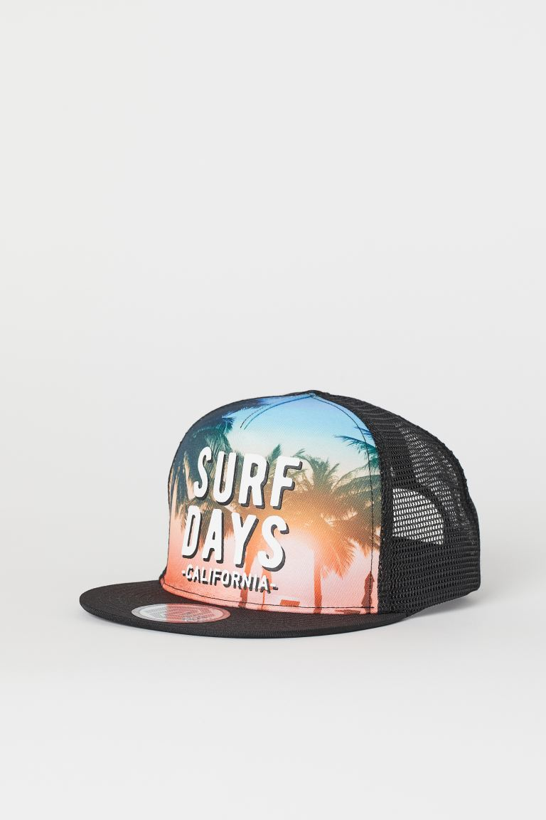 Cap with a motif - Black/Surf Days - Kids | H&M