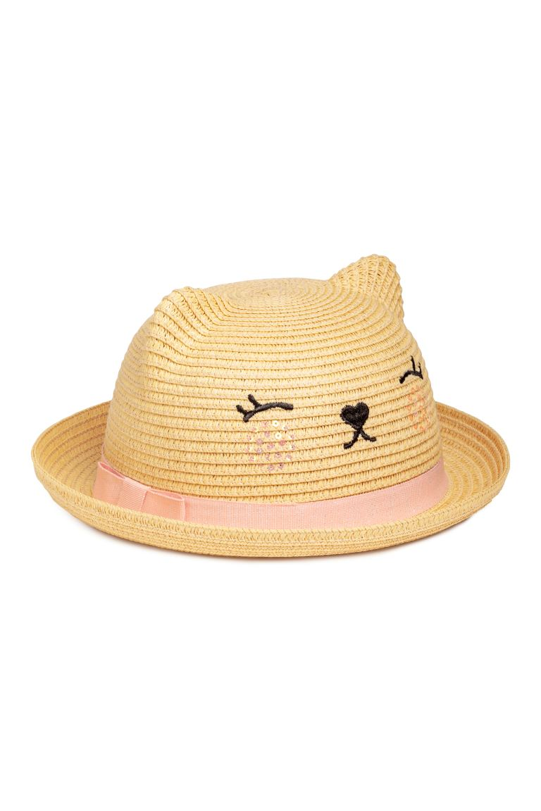 Straw Hat with Ears - Natural - Kids | H&M CA