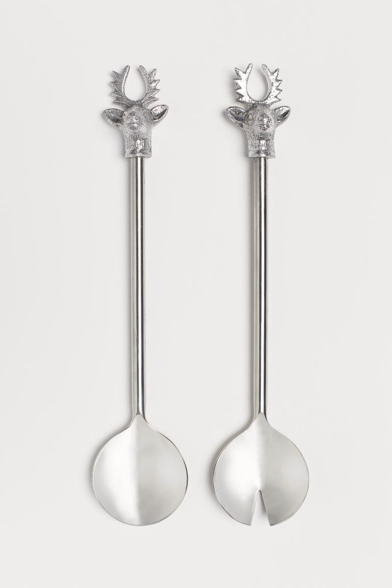 Metal Salad Servers - Silver-colored - Home All | H&M CA